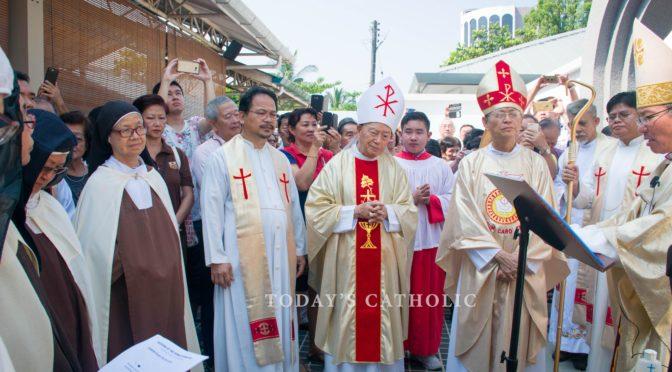Blessing of newly rebuilt Carmelite Monastery